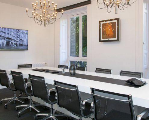 sala de reuniones oficina reformada
