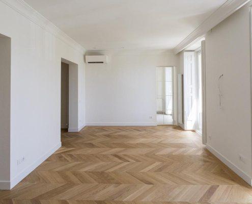 reforma integral de salon amplio en madrid centro