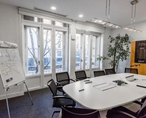 sala de reuniones de Arup en Madrid
