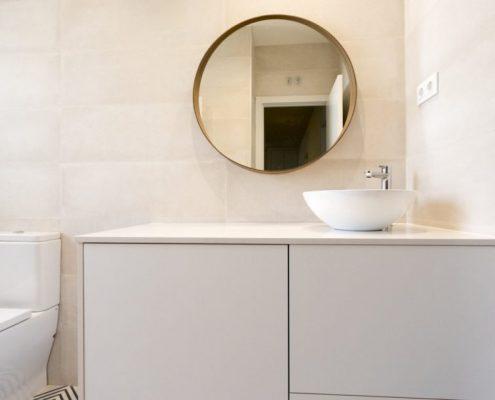 espejo redondo para baño